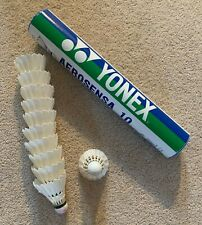 Yonex Aerosensa 10 Feather shuttlecocks for badminton, contains 11 shuttlecocks