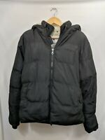 Soulcal & Co Mens Black Hooded Puffer Jacket Coat Size Small #2A5
