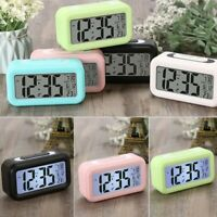 Multi-Function Digital Snooze Alarm Clock LED Smart Temperature Calendar Home