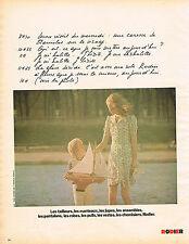 PUBLICITE ADVERTISING 035  1973  RODIER  tailleurs manteaux jupes robes