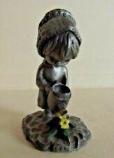 Two Children Little Gallery Hallmark 1977 Betsy Clarke ~ 20-01-109 Statuette Pewter Signed Vintage Figurine Interior Figure
