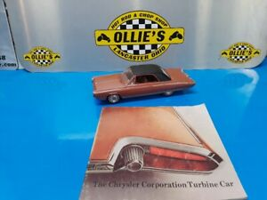 1963 CHRYSLER TURBINE CAR BRONZE DEALER PROMO WITH BROCHURE