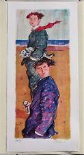 """TALANI GIAMPAOLO litografia 70X30 cm ca, """"Cercatori di pesce"""" (1)"""
