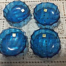 Kagami Crystal Snack Sized Plates x 4 (Original Labels)