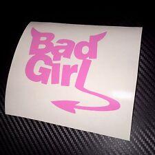 PINK Bad Girl Car Sticker Decal Fun Cute Sexy JDM Drift VDUB Girly Babe Bae