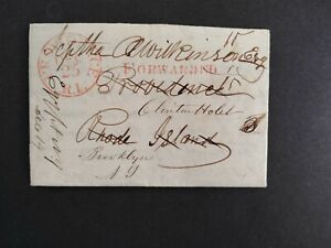 New York: Egypt 1850 12/25 Busy Forwarded Stampless Cover, DPO Monroe Co