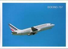 (wib) Airplane Postcard: Air France, Boeing 737