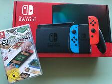 Nintendo Switch Konsole - Neon-Rot / Neon-Blau NEU + 51 Worldwide Games | NEU