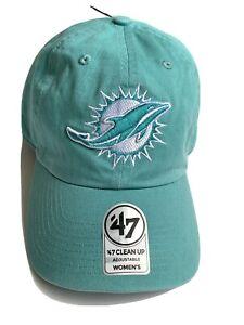 NFL Miami Dolphins Women's Adjustable Pastel Green Clip Buckle Cap Hat