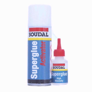 Soudal Mitre Kit Fast Bonding System Superglue and Activator 50g+200ml