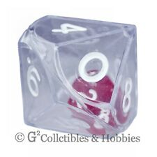 NEW Clear Double Dice RPG Gaming D10 Ten Sided Die 25mm 1 inch