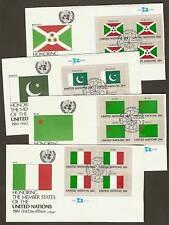 UN NY #425-440 Flags 1984 Set of 16 Artmaster MIB4FDCs