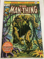 Man-Thing 1974 #1 Frank Brunner Cover Vintage Comic Book - Pen On Cover