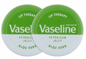 2 x Vaseline Lip Therapy Aloe Vera 20g NEW FREE SHIPPING