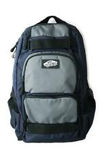 Vans Off The Wall Treflip Skateboard Laptop Backpack Navy Blue Gray New NWT