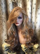 WOW! HUman Hair BLEND,Reddish Blonde, Red,Brown,Multipart, H.F. Lace Front Wig🌹