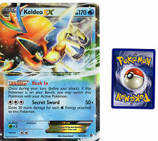 Pokemon Ultra Rare Keldeo EX Oversized  Foil Card 49/149 Bounderies Crossed Set