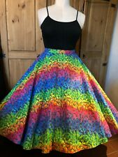Devil & Desire Rainbow Butterflies Retro Full Circle Rockabilly 50's Skirt