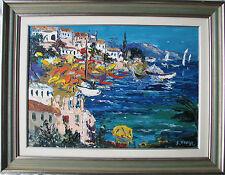 Giuseppe VIOLA (Milano 1933-2010) SANTA MARGHERITA LIGURE Olio su tela cm 50x70