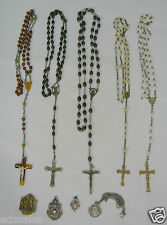 Lot of Rosaries Religious Pendants medallions sterling silver