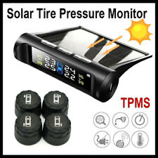 Solar Wireless TPMS LCD Car Tire Pressure Monitoring System + 4 External Sensors