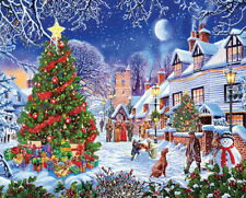 VILLAGE CHRISTMAS TREE 1000 PIECE JIGSAW PUZZLE by WHITE MOUNTAIN ~ NEW & SEALED