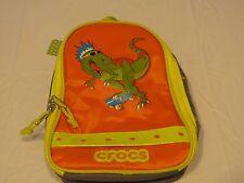 jibbitz Crocs dinosaur lunch box charm holder orange school camp kids cooler NEW