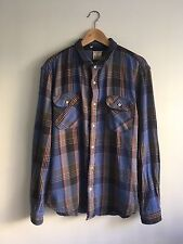 Levi's Vintage Clothing (LVC) Shorthorn Plaid Size Large Made in Italy