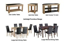 Ashleigh Furniture Range- Dining Set Chairs Storage - Walnut & Black Ash & Black