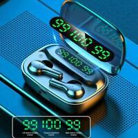 Bluetooth Wireless 5.0 Headset Earphones Mini Stereo LED Earbuds N0R1
