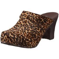 NEW !! DANSKO RAE LEOPARD PONY Hair Platform Mule Heels SHOES Slides 41 10.5 11