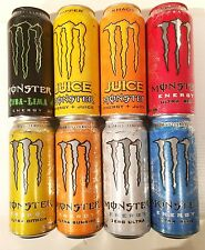 Monster Energy Drink Variety Pack - New Embossed Cans - 16 Pack