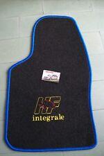 Set Tappetini blu ricamo HF Integrale Lancia Delta Evo 16v 8v Evoluzione tappeto