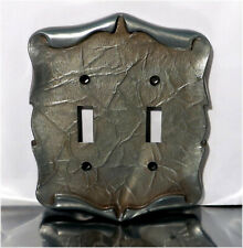 Vintage Amerock Carriage House Double Toggle Switch Plate Cover, Silver