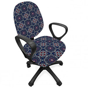 Ambesonne Bohemian Office Chair Slipcover Protective Stretch Cover