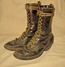 MEN'S VINTAGE WHITES BOOTS 13 INCH TALL PACKER MULE SKINNER BOOTS SIZE 12B BROWN
