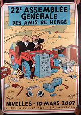 Tintin Affiche Les amis de Hergé 2007 TTBE