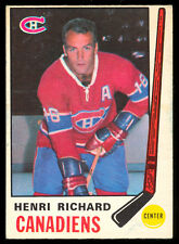 1969 70 OPC O PEE CHEE #163 HENRI RICHARD EX-NM MONTREAL CANADIENS HOCKEY CARD