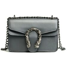 Women Designer Chain Sling Small messenger Bags with flap and Snake Lock