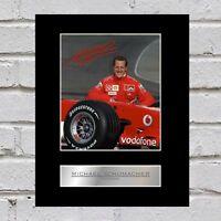 Michael Schumacher Signed Mounted Photo Display Ferrari