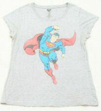 Superman Short Sleeve Crewneck Tee T-Shirt Top Woman's 2XL (19) Cotton Polyester