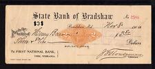 8R1189 - 1900 STATE BANK OF BRADSHAW - BRADSHAW, NEBRASKA