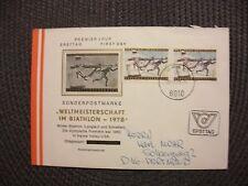 Österreich 1978/illustr.FDC Michel-Nr.1568(2x)+St.28.2.78 Graz/echt gelaufen