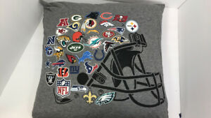 Pottery Barn Teen NFL Logo Football Pillow For Quilt Twin Full Pillow Sham EUC