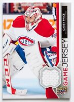 CAREY PRICE GAME USED JERSEY CARD UPPER DECK GAME JERSEY CANADIENS HABS WOW