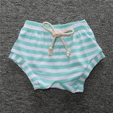 Infantil Bebé Niña Niño Informal Cómodo Pijama a Rayas Pantalón Corto Pantalones