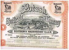 Potash Syndicate of Germany, 1925, LB 50 SINKING Fund ORO Loan