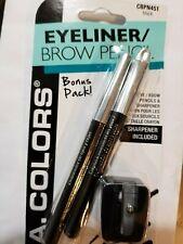 L.A. Colors Eyeliner / Brow Pencil Bonus Pack (3 ) - Black