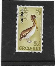 "GRENADA 1972 $2 AIR MAIL ""BROWN PELICAN BIRD"" SG.515 FINE USED"