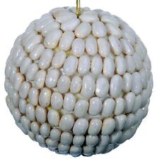 Seed Bean Mosaic Decorative Ball Ornament Natural White Christmas Tree New 450f